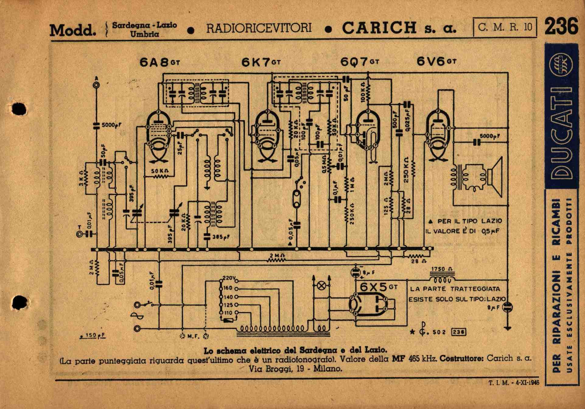 Schemi Elettrici Free : Schemi di vecchie radio a valvole old tube radio diagrams